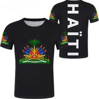 ingrosso uomo casuale di jersey dell'esercito-Haiti Unisex giovanile studente su misura nome numero t shirt bandiera personalità tendenza selvaggia coppie casual t shirt vestiti