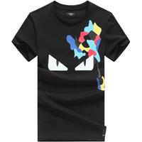 ingrosso linea di pesca treccia bianco-FEND Luxury Brand Logo T Shirt Uomo Bianco Nero Estate Uomo Plus Size 3XL Tops Designer Camicia da uomo