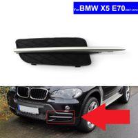 Wholesale front bumper trim resale online - For BMW X5 E70 Car Insert Lower Bumper Grill Fog Light Grille Auto Front Bumper Grille Cover With Silver Trim