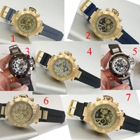 Wholesale Swiss Multi - New arrival Swiss brand INVICTA LOGO rotating dial outdoor sports men watch Luxury brand Silicone quartz watch All the functions work