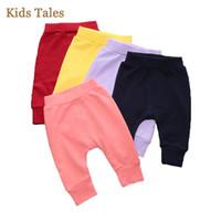 leggings da ordem venda por atacado-Crianças Inverno Leggings Multicolor Bebê Pão Calças De Algodão 4 Pcs / 1 Lot Ordem Da Ordem de Fábrica Custo Barato Atacado