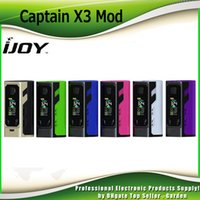 Wholesale Led X3 - Original Ijoy Captain X3 324W Box Mod TC 9000mAh with 20700 Battery 18650 Adapter Colorful LED Screen Vape Ecig Mods 100% Authentic