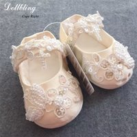 Wholesale Bella Shoes - Luxury Ivory Applique Bling Jesus Cross Baptism Pageant Match Baby Shoes Champagne Sparkle Annual Bridal Party Bella Keepsake