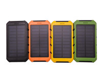 Wholesale solar power bank for sale - 20000mAh Power Bank Ultra thin Waterproof Solar Power Banks A Output Cell Phone Portable Charger Solar Powerbank