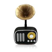 haut-parleurs de musique bluetooth achat en gros de-En gros Nouveau Rétro Sans Fil Bluetooth Haut-parleurs Mini Classique Stéréo Subwoofer Haut-Parleur Lecteur de Musique Support TF carte Radio pour les cadeaux