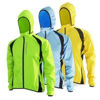ingrosso impermeabile a ciclo-All'ingrosso- 2017 traspirante giacca da corsa antivento ciclismo impermeabile bicicletta cappotto pioggia bici uomo donna ciclismo maglie a vento