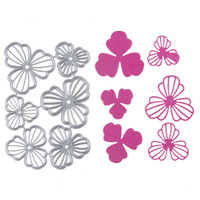 Wholesale Flower Frames For Photos - 1 set Metal Steel Flower Frame Cutting Dies Stencil For DIY Scrapbooking Album Paper Card Photo Decorative Craft