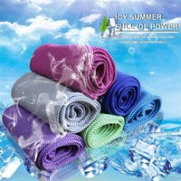 Wholesale baby exercise - Ice Cold Towel Summer Anti Sunstroke Cooling Towel Multifunction Sports Exercise Quick Dry Soft Breathable Cooling Towel Neck Wrap Scarf