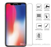 iphone прозрачное переднее стекло оптовых-2.5D 9Н ультра тонкого закаленное стекло для iPhone XS XR X экрана передней защитной пленки на iPhone X XS Max Clear Glass Премиум