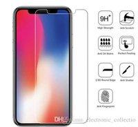 iphone klares frontglas großhandel-2.5D 9H Ultra Thin Tempered Glass für iPhone XS XR X Displayschutzfolie auf iPhone X XS Max Clear Premium Glass