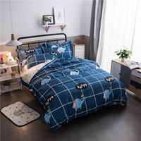 ropa de cama de elefante reina al por mayor-Elephant Home Textile Printe Juego de cama Funda de cama Sábana Funda de almohada Funda de lino Sábanas Queen Teen Adulto