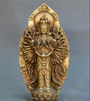 buddha statues china Canada - Collect China old Bronze Tibet Buddhism Thousands Hands Guanyin Buddha Statue