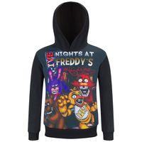 ropa de noche chicos al por mayor-Five Night At Freddy Kids Hoodies Pesadilla Freddy Bear Boy girl Sudadera FNAF Ropa para niños Chica Bonnie Foxy Poleron Bebe Y1892907