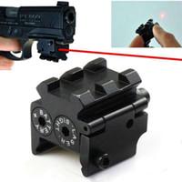 mira del riel de la pistola al por mayor-Mini alcance de mira láser táctico compacto compacto rojo ajustable para pistola pistola 20mmr Rail