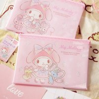 b7adec439b25d Hello Kiy Cartoon Ziplock Makeup Bag My Melody Gemini Portable Waterproof  Travel Package PP Storage Bag Cosmetic B22