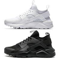 siyah beyaz gri huarache toptan satış-2018 Huarache Run ayakkabı üçlü Beyaz Siyah erkek kadın Koşu Ayakkabıları kırmızı gri Huaraches spor Ayakkabı Womens Sneakers abd 5.5-11