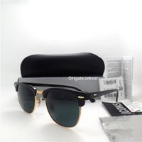 sunglasses white glass circle Australia - Top Quality Slim Circle Sunglasses Women Men Sunglasses UV400 Metal Hinge Frame Eyewear 51MM Plank Eyeglass Trend Vintage Mirror Box Case