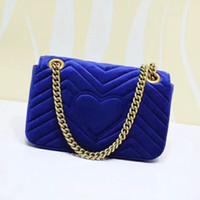 Wholesale bag black across online - 2018 New Velvet Women Luxury Brand Shoulder Bag Good Quality Lady Bag The Chain Slanted Across The Girl S Bag