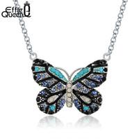ccea5673969e Venta al por mayor de Colgantes De Mariposa De Cristal Azul ...