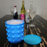Wholesale Decoration Kitchen - Ice Cube Maker Silicone 13*13*14.5cm Ice Bucket Mold Kitchen Tools Party Decoration Outdoor Picnic Tools Retail Package