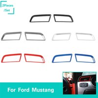 Wholesale mustangs accessories online - ABS Dash Board Left Right Vent Decoration Ring Fit For Ford Mustang High Quality Car Accessories