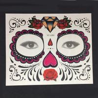 tatuajes de ojo de halloween al por mayor-Desechables Ojo Mágico Etiqueta Temporal del Tatuaje Moda Impermeable Tatuajes Pegatina Para la Belleza Etapa de Maquillaje de Halloween Makup
