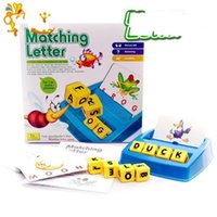 Wholesale Learn English Toys - Puzzle Desktop Game Toys Children Kid Matching Letter Collocation Fight Word Intelligence Learn English Early Childhood 12 2yh V