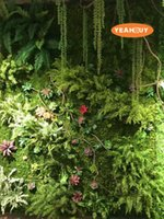 Wholesale Leaf Shaped Beads - 90cm plant wall accessories simulation bead string simulation dragon hanging plant wall decoration fake grass free shipping