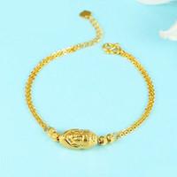 o bağlantı toptan satış-Yeni Saf 999 24 K Sarı Altın Zincir Kadınlar O Link Link Buda Bilezik 7.6 inç