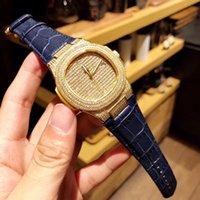 relógio de ouro em genebra venda por atacado-2018O pulso das senhoras e senhores mostra a estrela do mesmo Rose Golden Man Geneva Assista Steel Rome Dial-up AAA Feminino Deluxe Bran
