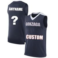 a medida que el jersey al por mayor-Hombres Personalizados Gonzaga Bulldogs College Jersey Por encargo cualquier número de nombre azul marino Blanco Azul negro PUNTADAS Camisetas de baloncesto Barato