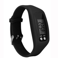 Wholesale waterproof lcd counter online - 4Colors Electronic Wristvband Waterproof Digital LCD Run Step Pedometer Portable Walking Calorie Counter Distance Pedometers