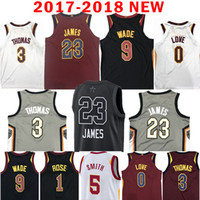 Wholesale Love Rising - 2018 New 9 Dwyane Wade 23 LeBron James Jersey All Star 0 Kevin Love 3 Isiah Thomas 1 Derrick Rose 5 JR Smith The City Jerseys