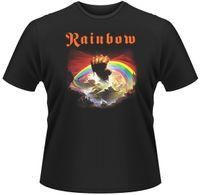 yeni gökkuşağı gül toptan satış-RAINBOW Yükselen Albümü SIYAH TEE Tişört Boyutu-S 5XL 2017 Yeni Eğlence Moda t-Shirt erkekler pamuk kısa kollu 100%