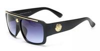 ingrosso catena di occhiali da sole-9113 new fashion UV 400 protezione Italia designer designer catena d'oro Tyga Medusa occhiali da sole uomo / donna occhiali da sole 2283 con scatola con cerniera