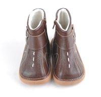 fabb552e5 SandQ bebê sapatos de couro macio crianças marrons botas com fivelas de inverno  quente com fivela atacado varejo frete grátis