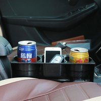 Wholesale car cell phone organizer for sale - Group buy Portable Multifunction Car Auto Cup Holder Vehicle Seat Cup Cell Phone Drink Holder Glove Box Car Interior Organizer Car styling