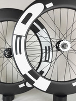 roda de pista de 88mm venda por atacado-Frete Grátis !! hed Rodas De Carbono 88mm Clincher tubular faixa de Bicicleta Roda de Carbono 700C 23mm largura faixa de Bicicleta Engrenagem Fixa