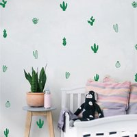 Wholesale tattoos for wall - Free shipping Cactus Wall Decals Woodland Tribal Cactus Wall Stickers for Kids Room Baby Nursery Decor Art Succulent and Cacti Wall Tattoo