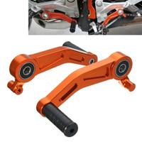 freno ktm al por mayor-Palanca del pedal de freno de la motocicleta de aluminio CNC para KTM DUKE 390 2013-2015 DUKE 125/200