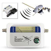 Wholesale Frequency Receiver - Mini DVB-T Satellite Finder Digital Aerial Terrestrial TV Antenna Signal Strength Meter Receiver DVBT Frequency 170 - 860MHz