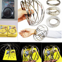 Wholesale funny kids toys - Toroflux Flow Rings 3D Kinetic Sensory Interactive Cool Toys For Kids Adults Funny magic ring Toy KKA4422