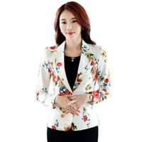 Wholesale ladies formal short jackets for sale - Short Elegant Blazer Women  Flower Plus Size Korean feb0b7ace9d8