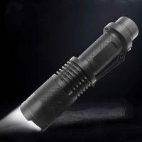 starke wasserdichte taschenlampen groihandel-XPE-Glühlampe-haltbares starkes Licht-lange Schuss-Taschenlampe wasserdichte starke Taschenlampe, die rutschfeste wieder aufladbare Taschenlampe fokussiert