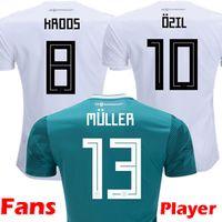 Wholesale player version - 2018 Player Version Germany Kroos World Cup 2019 Soccer jerseys 18 19 Germany Fans Model DRAXLER OZIL REUS GOTZE WERNER Football Shirts