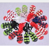 ingrosso le ragazze merlettano sandali-Sandali del bambino del cuoio genuino di estate Pattini lunghi delle bambine del merletto Pattini molli dei sandali del bambino dei sandali del bambino Trasporto libero