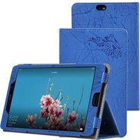 Wholesale blue flowers case for sale - Group buy Luxury Print Flower Flip Book Cover PU Leather Case for Cube X1 T801 inch Tablet with Hand Strap Stylus Pen