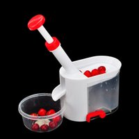 Wholesale party gadgets resale online - Birthday Party Cherry Corer Stones With Container Cherry Pitter Stone Remover Machine Kitchen Tool Machine Novelty Super Gadget For Kids