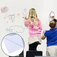 pegatinas de marcadores al por mayor-Venta caliente 45X100 cm Soft Flexible Whiteboard Tablero de Mensajes Notas etiqueta de la pared impermeable con 1 rotulador