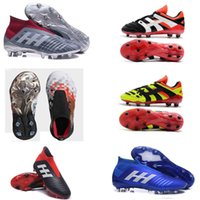 Wholesale original indoor shoes online - original Youth Football boot Predator Accelerator Electricity x Pogba FG Kids Soccer Shoes PureControl Purechaos Soccer Cleats for women